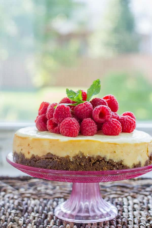 Lemon Instant Pot Cheesecake with Gingersnap Crust